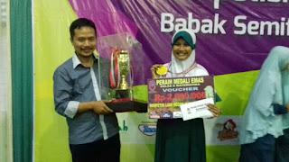 Juara Umum di ajang HIMSO ( Hidayatullah Mathematic and Sains Olimpiad )