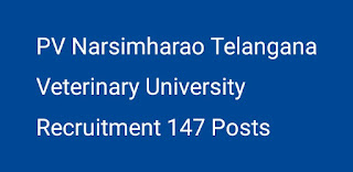TS Veterinary University Recruitment in AHDD and F Department 147 Posts