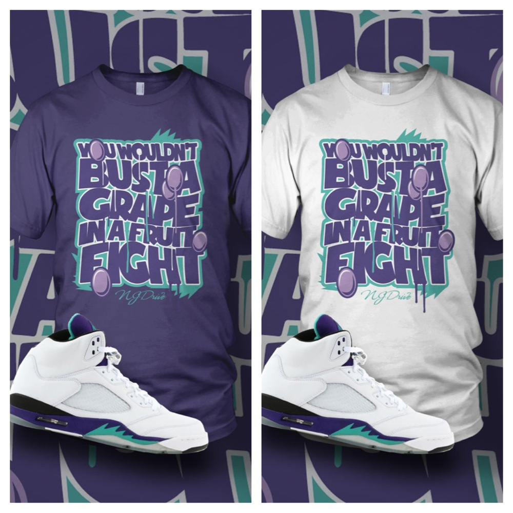 2d20130e745ef3 NJ Drive Clothing Blog  Air Jordan Grape 5 s   T-Shirt in stock!