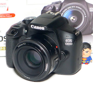 Kamera Canon 1300D Lensa Fix 50mm Fullset