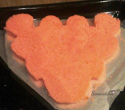 Tarta Pantera rRosa (Siempredulces) - Bizcocho recortado