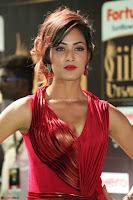 Videesha in Spicy Floor Length Red Sleeveless Gown at IIFA Utsavam Awards 2017  Day 2  Exclusive 21.JPG