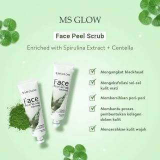 Harga Terbaru Face Peel Scrub MS Glow di www.ms-glow.store