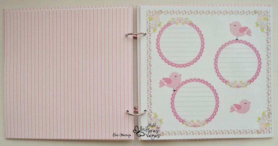 livro de mensagens assinatura passarinho floral jardim delicado rosa bebê aniversário chá de bebê fraldas 1 aninho