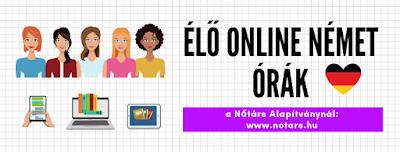 Élő online NÉMETÓRÁK a Nőtárs Alapítványnál A1+A2 és B1+B2 szinteken