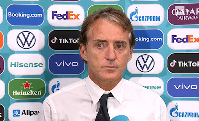 Roberto Mancini foto intervista dopo partita Italia Inghilterra 11 luglio