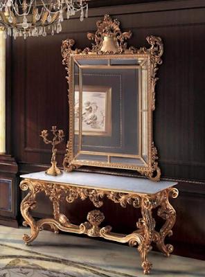 meja rias ukir mewah warna emas