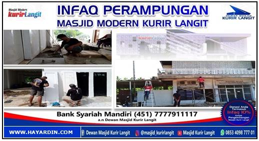 Perampungan Pembangunan Masjid Modern Kurir Langit
