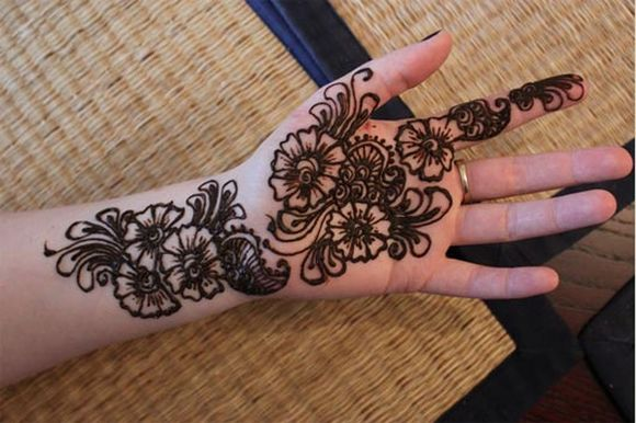 Simple Arabic Mehndi Designs For Palm full hands