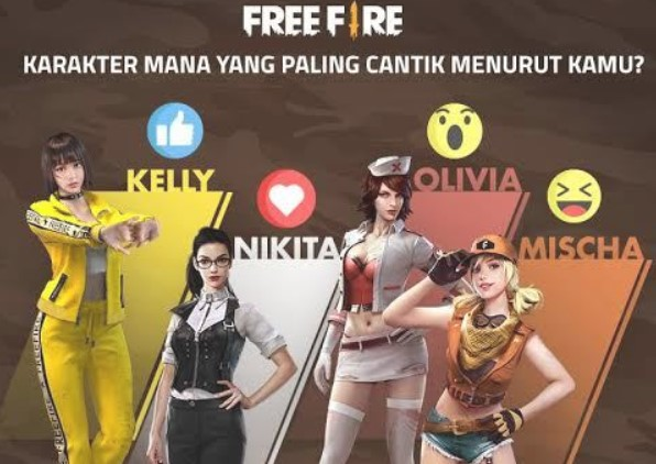 Karakter Tercantik di Free Fire