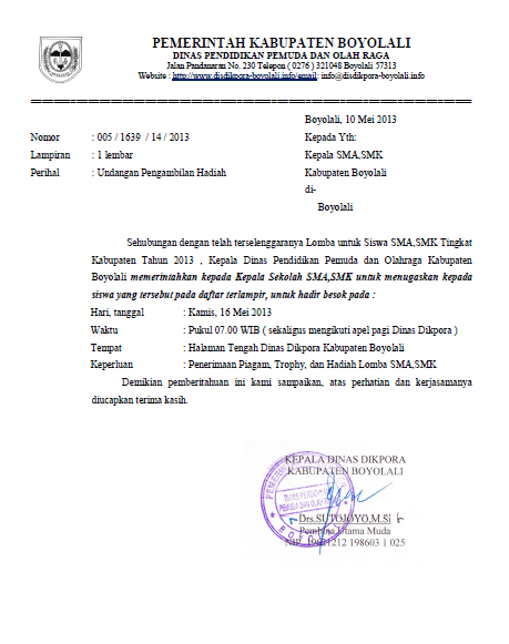 INFO SMA SMK KABUPATEN BOYOLALI: UNDANGAN PENGAMBILAN ...