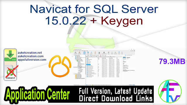 Navicat for SQL Server 15.0.22 + Keygen
