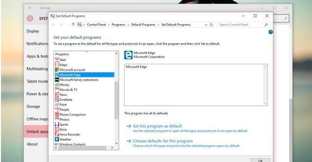 Cara mengembalikan Default Program di Windows 10