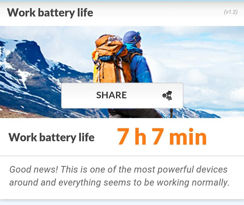 Battery benchmark of K4 Note