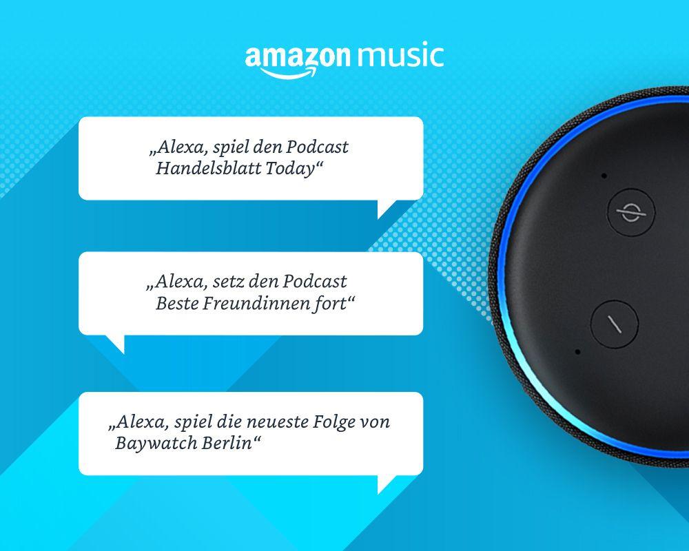 Amazon Music startet Podcasts für alle Kunden in Deutschland, USA, UK und Japan | Mein Webtipp