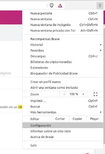 Configuracion Brave Browser