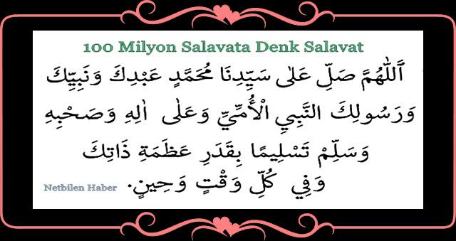 100 milyon salavata Arapça