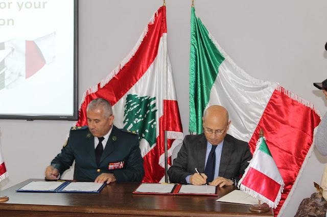 القوات المسلحة الايطالية  تدعم لبنان بمعدات عسكرية وتداريب ميدانية