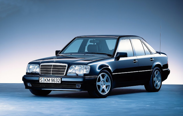 1994 - Mercedes-Benz 500 E, the high-performance 124 model series saloon