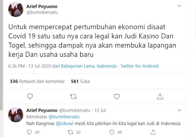 Gerindra: Pernyataan Arief Poyuono Ajak Jokowi Legalkan Judi Tak Mewakili Partai