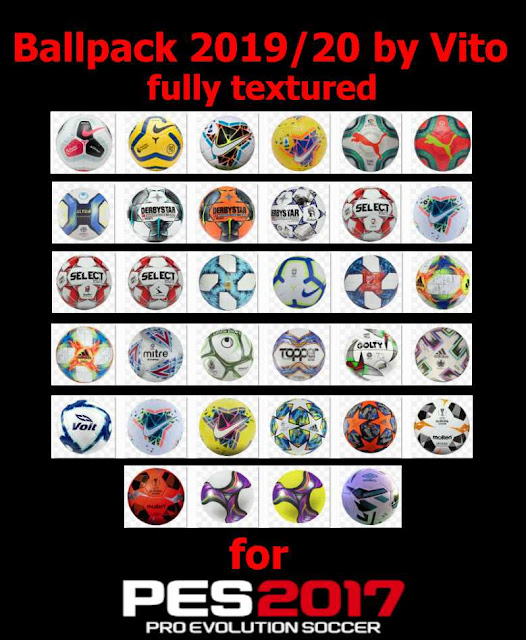 Ballpack 2019/20 Fully Textured For Pes 2017 by Vito