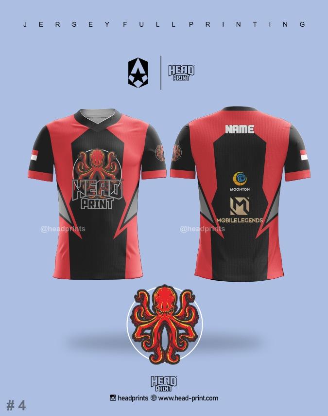 Octopus Esports Jersey Full Printing - Contoh Desain Jersey - Jersey Satuan