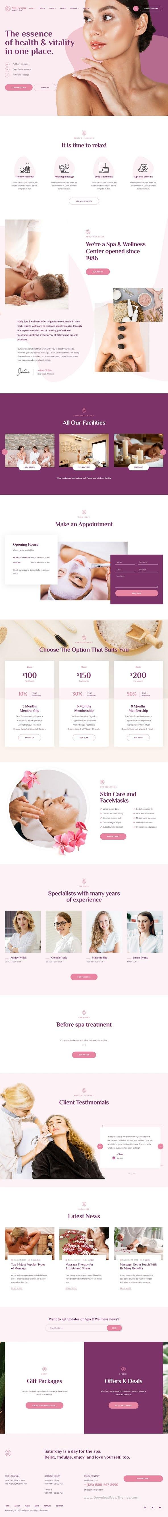 Beauty & Wellness WordPress Theme
