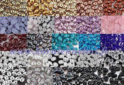 SuperDuo lasihelmet, helmikauppa, korutarvikkeet, tsekkiläiset lasihelmet,