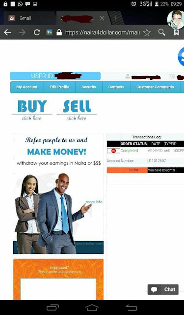 Opening naira4dollar account in nigeria
