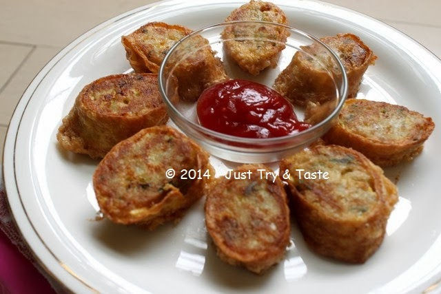 Resep Dadar Gulung Isi Daging Kepiting & Ayam Cincang