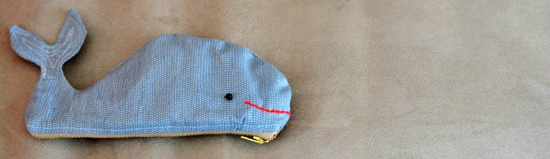 Whale Shark Pencil Case Zipper Pouch Tutorial & Pattern
