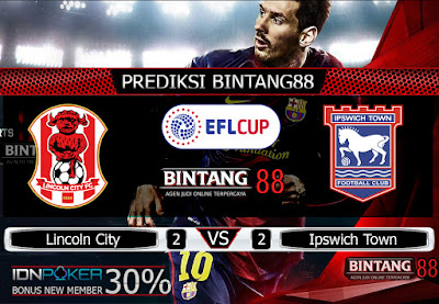 Prediksi Skor Lincoln City vs Ipswich Town 21 November 2019