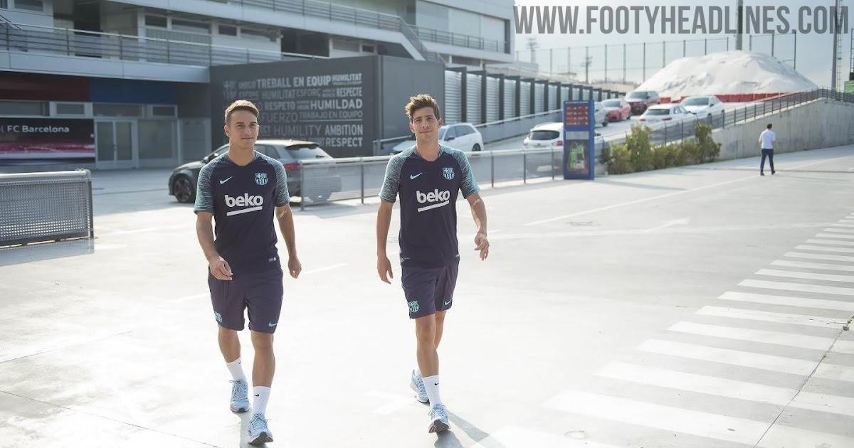 the latest aa57b ac452 Nike Barcelona 18-19 Training Kit Released - Leaked Soccer ...