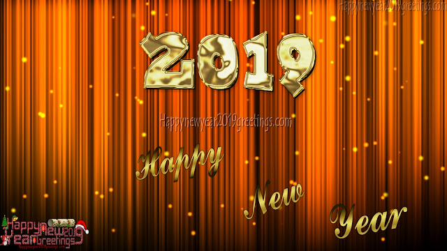 Happy New Year 2019 4k Golden Background Download Free