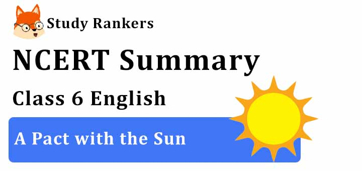 Chapter 8 A Pact with the Sun Class 6 English Summary