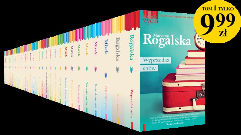 """17b578babe780 """"Kolory życia"""" to kolekcja bestsellerowych powieści obyczajowych napisanych  przez najlepsze polskie autorki: Marzenę Rogalską, Krystynę Mirek, ..."""