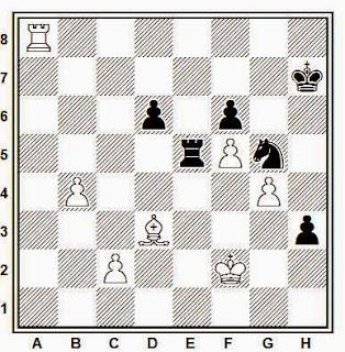 Posición de la partida de ajedrez Matanovic - Kramer (Bad Pirmont, 1951)