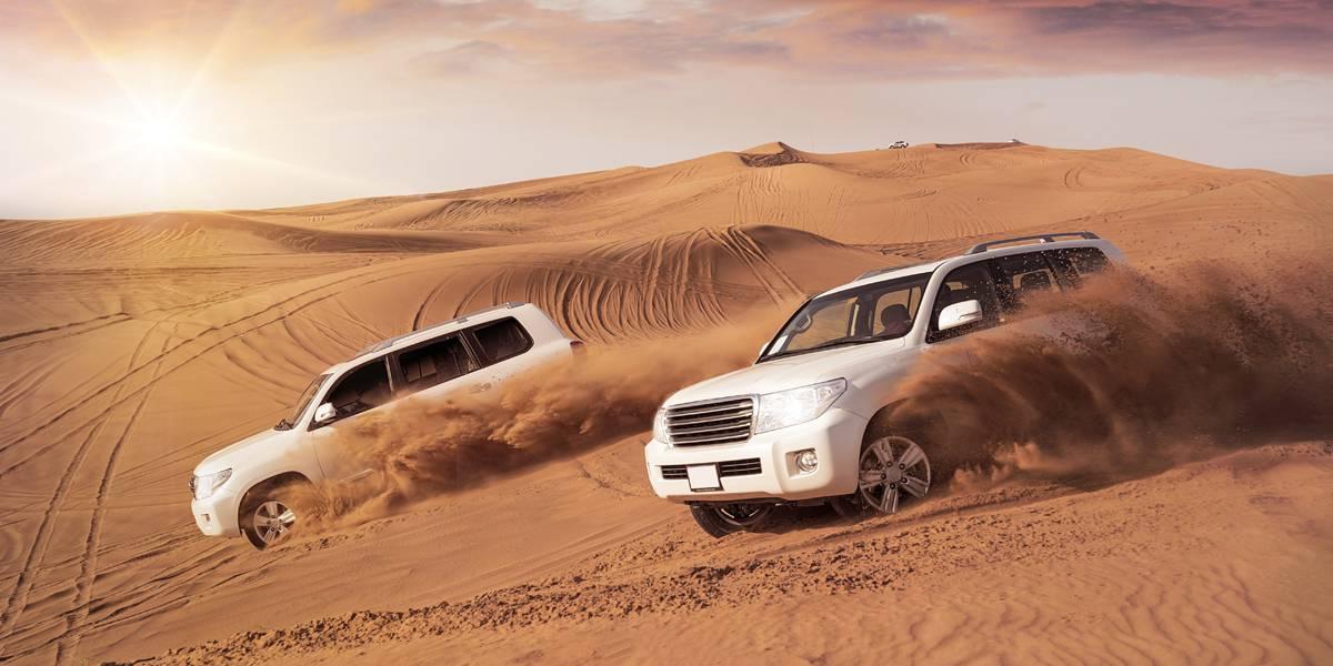 Morning Desert Safari -The Scenic Beauty of Arabian Dunes