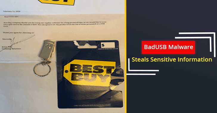 Beware! Hackers Deliver USB Devices Containing Malware Using Best Buy Gift Cards