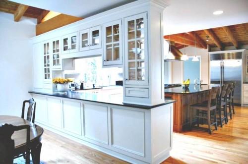 Decora la casa ideas para usar un separador de ambientes - Kitchen and living room divider ...