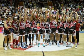 BALONCESTO - El Girona da a su público su segunda Supercopa de España