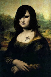 Funny Emo Mona Lisa Paintings