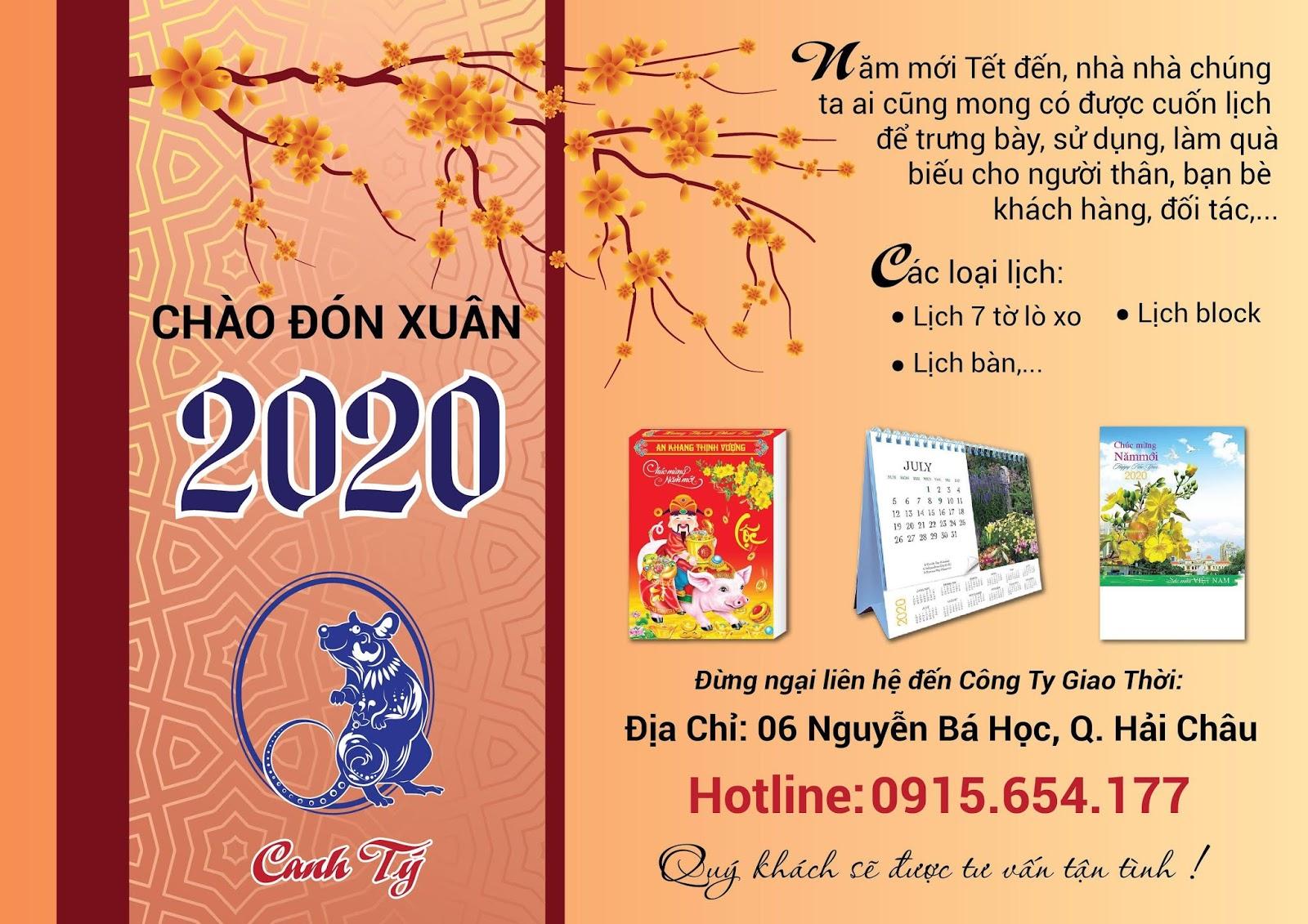 In lịch tết Đà Nẵng