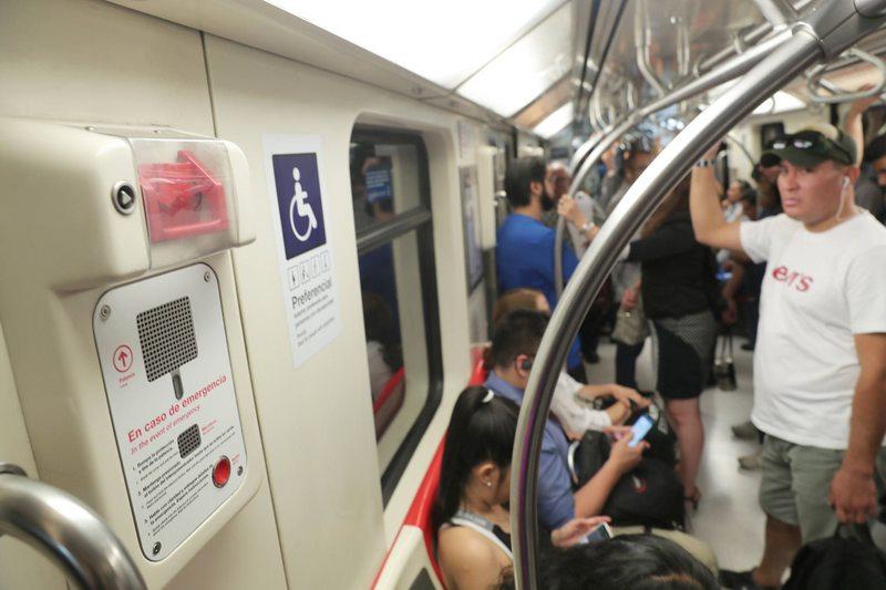 Así funciona el freno de emergencia del Metro