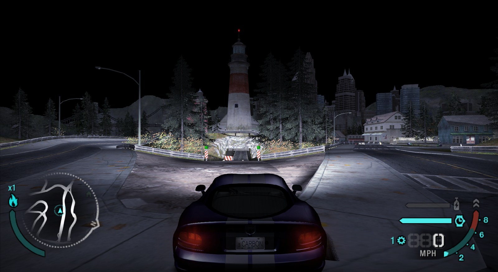 need for speed most wanted car map