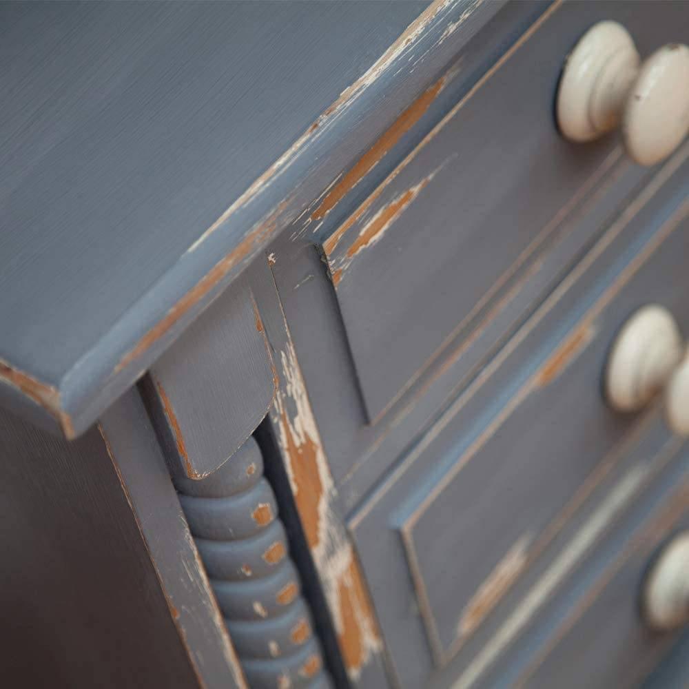 Mesa pintada con chalk paint azul
