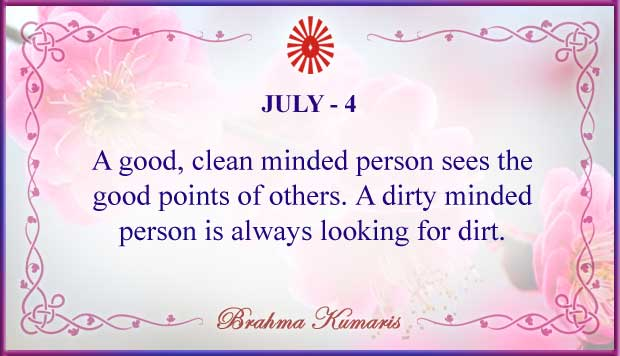 Thought For The Day July 4