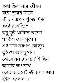 Amar Oporadh Lyrics Meraj Tushar