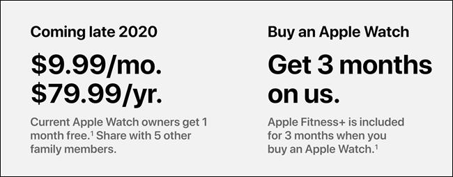 تسعير Apple Fitness +