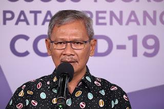 Achmad Yurianto saat updated covid 19